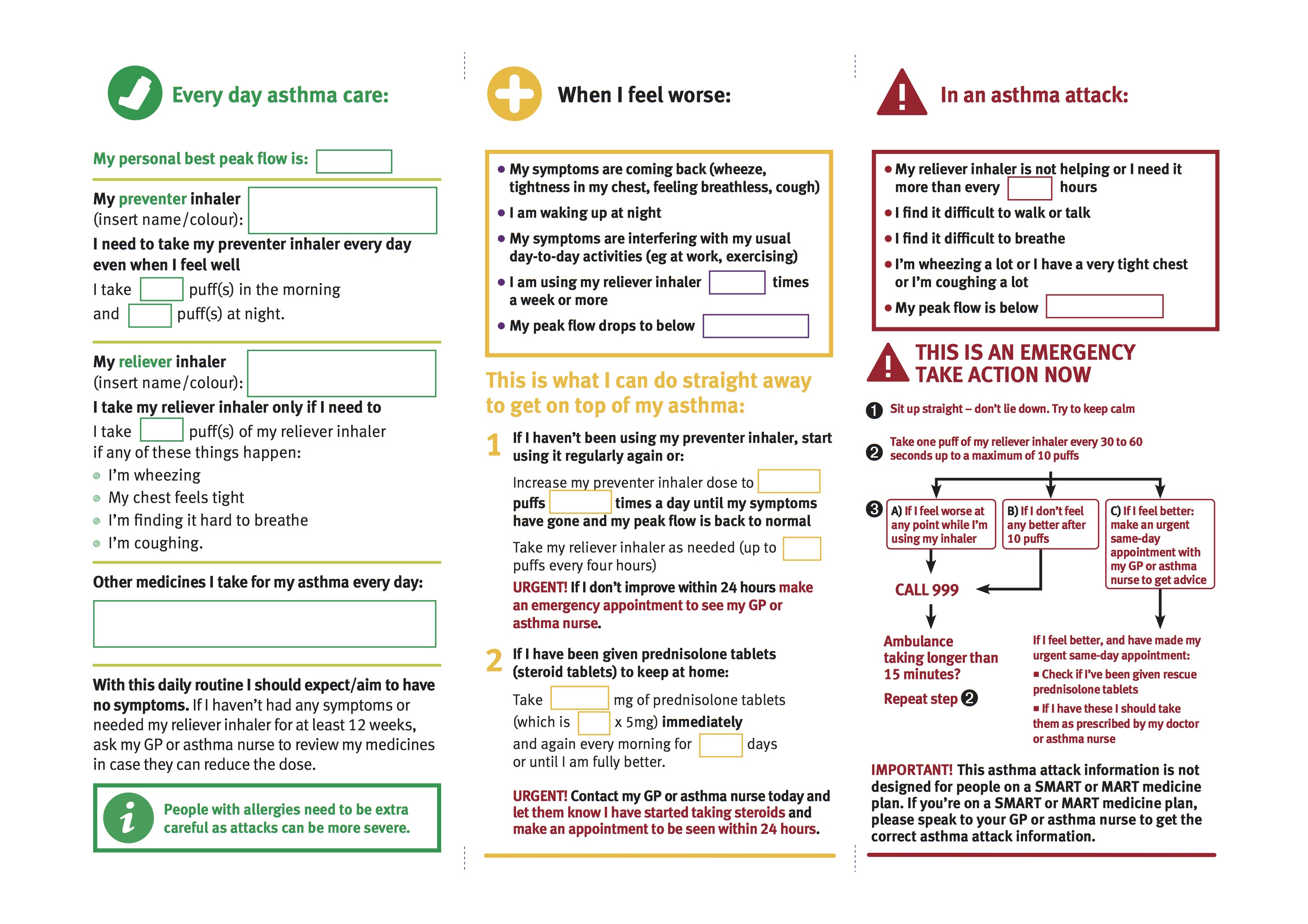 Personalised asthma action plans - what are they and what ...