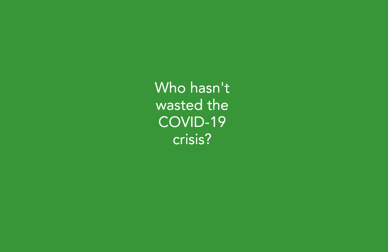 Who hasn't wasted the COVID-19 crisis?