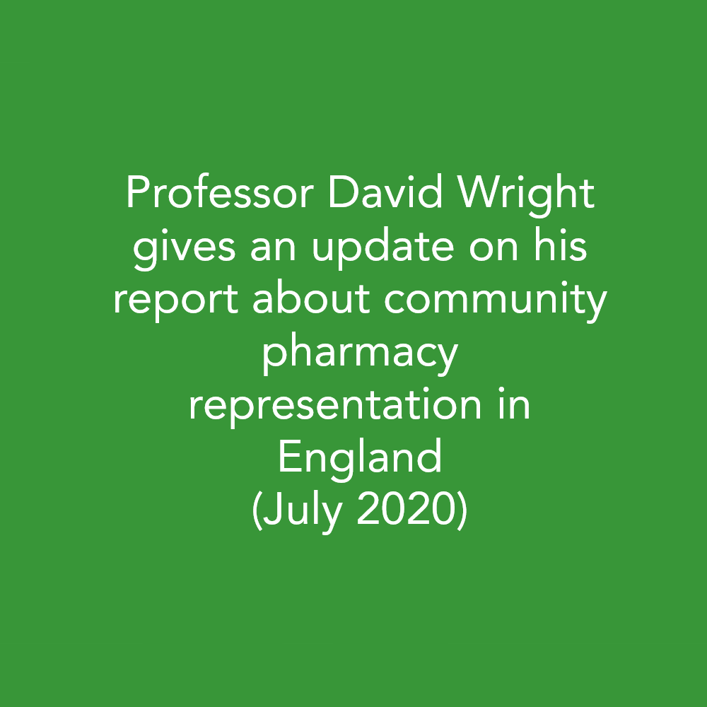 Protected: PIP insights: Professor David Wright gives an update on his report about community pharmacy representation in England (July 2020)