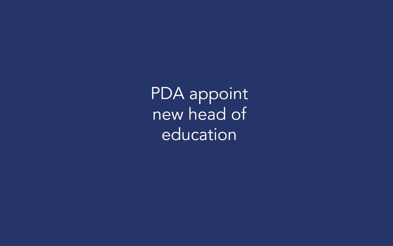 PDA appoint new head of education
