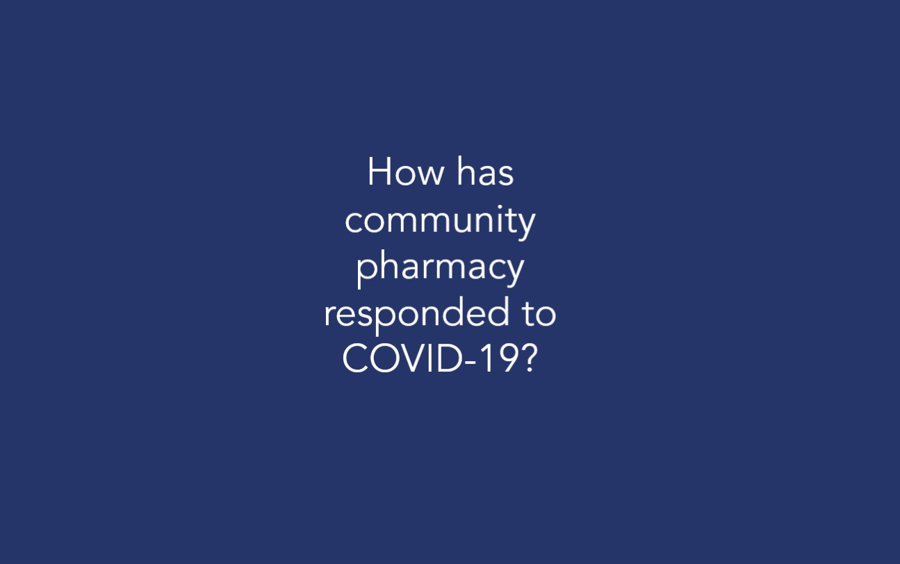 How has community pharmacy responded to COVID-19?