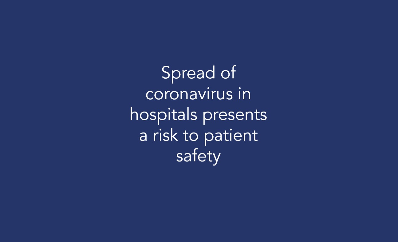 Spread of coronavirus in hospitals a risk to patient safety