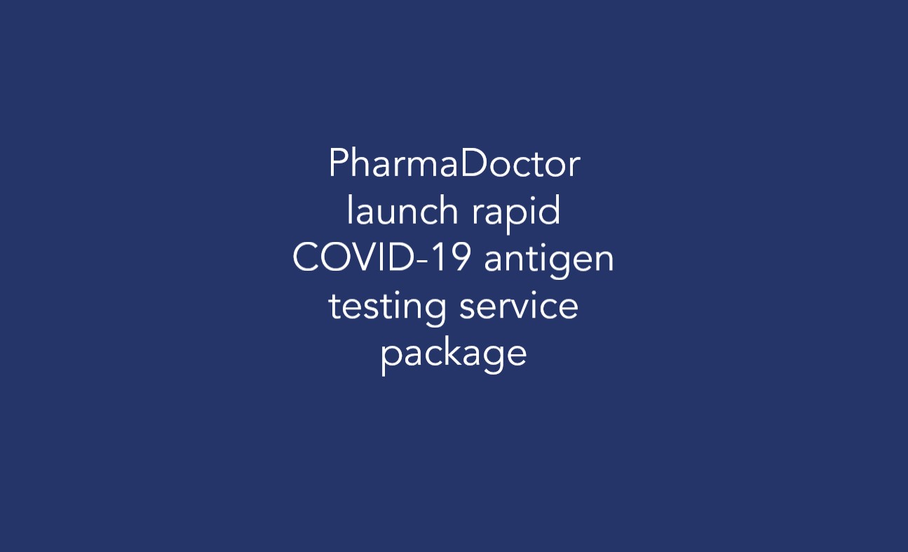 PharmaDoctor launch rapid COVID-19 antigen testing service package