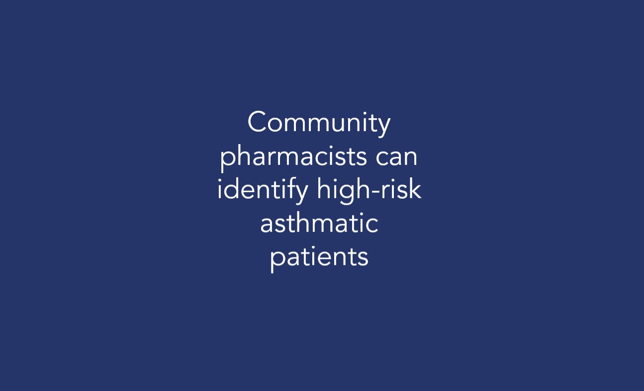 Community pharmacists can identify high-risk asthmatic patients