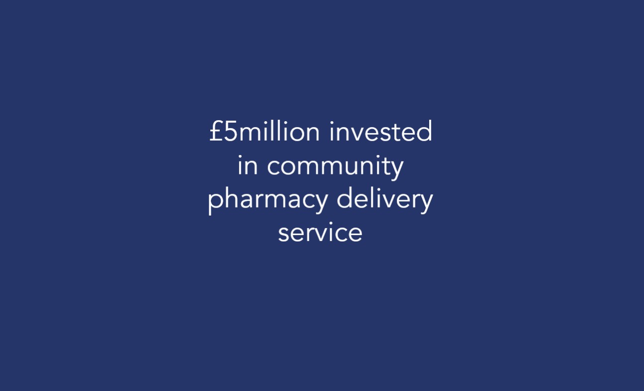 £5million invested in community pharmacy delivery service