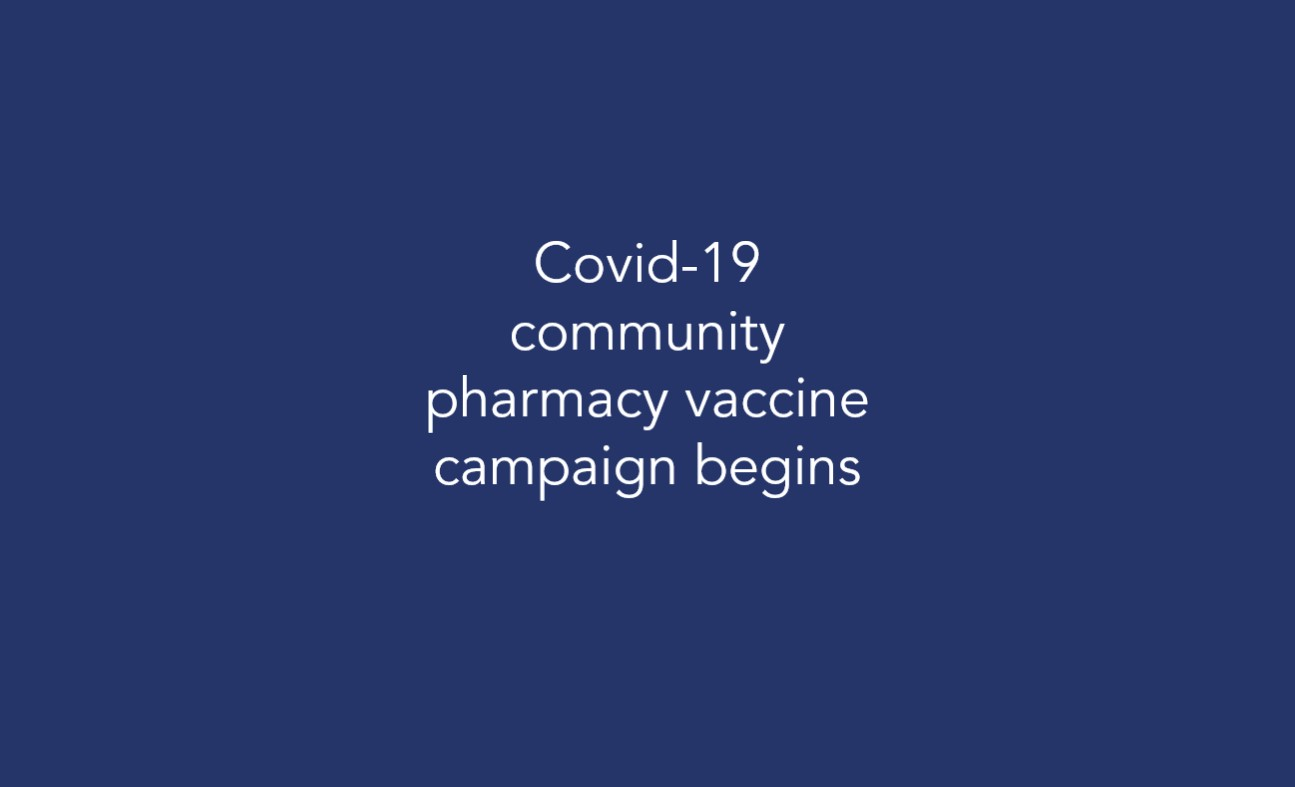 Covid-19 community pharmacy vaccine campaign begins