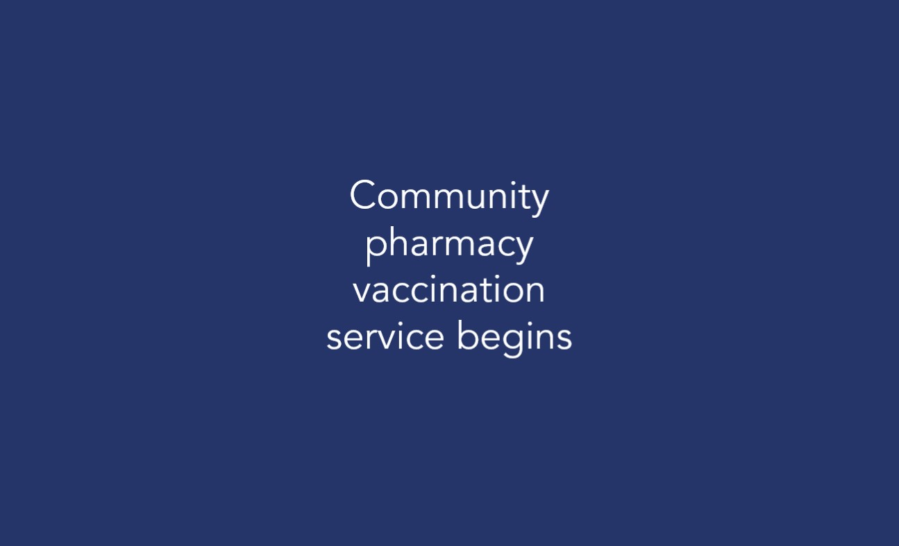 Community pharmacy vaccination service begins